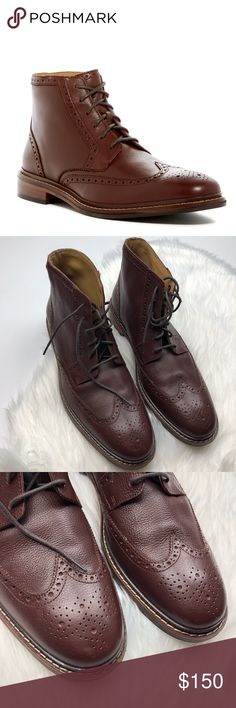 Cole Haan Williams Welt II Wingtip Boots Excellent condition, almost like new. Wear to bottoms but otherwise in great shape. Men's size 13. Brown. Lace up. *221768* Cole Haan Shoes Boots
