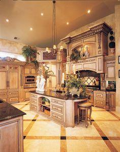 Luxury Kitchen Design, Kitchen And Bath Design, Dream Home Design, Luxury Kitchens, Diy Kitchen, Cool Kitchens, House Design, Design Bathroom, Kitchen Ideas