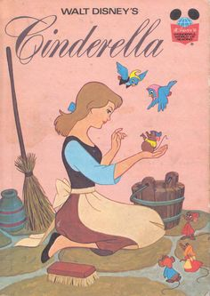 Walt Disney's Cinderella by Walt Disney Books. Cinderella Book, Walt Disney Cinderella, Disney Love, Vintage Poster, Vintage Children's Books, 90s Childhood, My Childhood Memories, Nostalgia, Film D'animation
