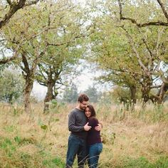 Powell Butte has overgrown orchards, grassy vistas and forest too! Photo by Portland wedding photographer Katy Weaver