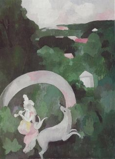 Nymph and Hind, 1925, Marie Laurencin