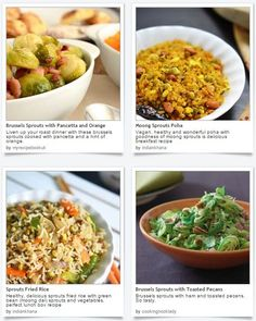 Prepare some memorable sprout recipes on this spring holiday and celebrate the March Equinox as we feature some recipes at Dishfolio!