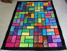 Batik Stained Glass Quilt - Free Pattern   Beautiful Skills - Crochet Knitting Quilting   Bloglovin'