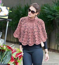 ❤ ✿ Mi Rincón del Tejido ✿ ❤: Capa / poncho con cuello alto a crochet