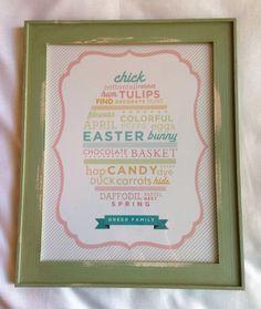 Custom Easter Family 11 x 14 Glossy Word Art Print Unframed on Etsy, $18.00