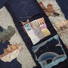 quilt? embroidery? who cares - I like this Spirit Cloth...Stray Cat