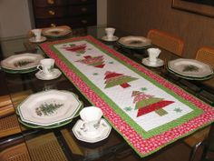 Quilted Christmas Table Runner by DesignsSolutionsEtc on Etsy, $85.00