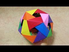 725 Origami 종이접기 (다면체)  polyhedron  색종이접기  摺紙 折纸 оригами 折り紙  اوريغامي - YouTube