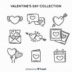 Valentine label collection Free Vector Bullet Journal Notebook, Bullet Journal School, Bullet Journal Ideas Pages, Bullet Journal Inspiration, Cute Doodle Art, Doodle Art Drawing, Doodle Frames, Kawaii Doodles, Cute Doodles