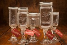 Fancy Redneck Wine Glasses on BourbonandBoots.com