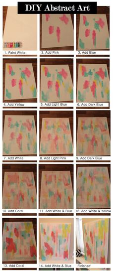 danielle oakey interiors diy art. Step by step for an abstract painting!