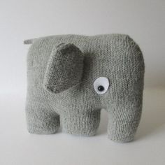 Who could resist a cuddle with this elephant cushion! THE PATTERN INCLUDES:Row numbers for each step so you don't lose your place, instructions for making the cushion, 11 photos to show certain steps and of the finished cushion, a list of abbreviations and explanation of some techniques, a materials list and recommended yarns. The pattern is 5 pages and written in English. TECHNIQUES:All pieces are knitted flat (back and forth) on a pair of straight knitting needles, apart from the little...