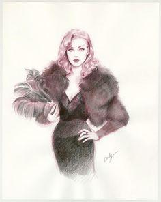 "Maly Siri - Pin-up Art Illustration originale intitulée ""Ivana Greta : like a warrior"""