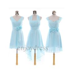Custom Light BLue Bridemaid Dresses 2014 Short Prom Dress Cheap... ($56) ❤ liked on Polyvore featuring dresses, light blue prom dresses, homecoming dresses, blue homecoming dresses, light blue bridesmaid dresses and blue dress