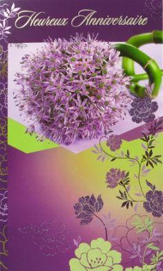 E16 05 05 - Carte Anniversaire Femme Fleurs