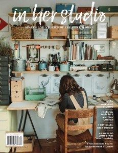 In Her Studio Premier Issue – Home Office Design For Women Design Room, Café Design, Art Studio Design, Paint Studio, Sewing Room Design, Menu Design, House Design, Home Art Studios, Art Studio At Home