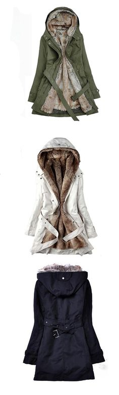 Women's Regular Parka Coat, Simple Casual/Daily Solid-Cotton Others Long Sleeves Hooded Coat