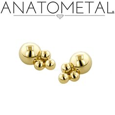 These Threaded Sabrina Ends in solid 18k yellow gold ordered by Adorn Body Art…