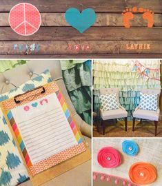 Peace & love Themed Baby Shower