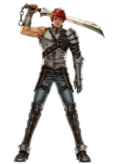 One of my personal favorites: Male bladesman with moderate - patchy armor.