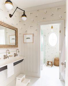 Welcome to MH (tiny) Home Store!!! - Monika Hibbs Bathroom Kids, Bathroom Renos, Laundry In Bathroom, Girl Bathrooms, Family Bathroom, Small Bathroom, Home Renovation, Decor Interior Design, Interior Decorating