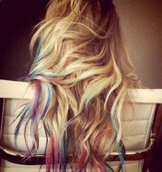 colored hair tips - Google Search