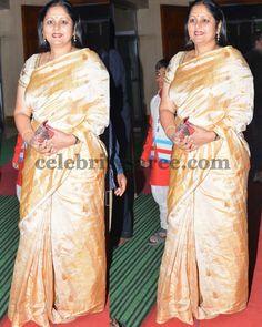Jayasudha Gold Silk Saree