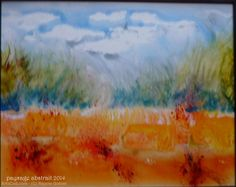 Artwork >> Réjane Gohier >> abstract landscape