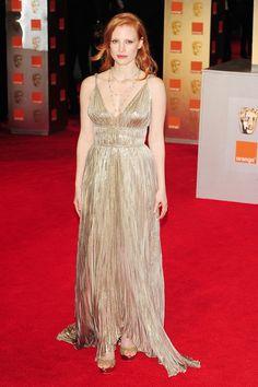 Jessica Chastain in Oscar de la Renta 2012
