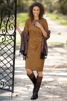 Side-tie Microsuede Dress from Chadwicks Of Boston on Catalog Spree