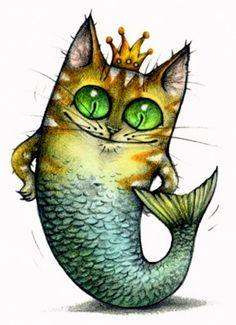 Cat Mermaid...why not?!