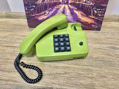 Vintage Germany green phone Siemens, Old rotary phone, Circle dial rotary phone, Vintage landline phone, Old Dial Desk Phone, Retro phone Retro Phone, Landline Phone, Germany, Vintage, Deutsch, Vintage Comics, Vintage Telephone