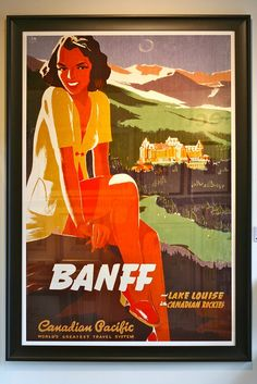 size: Stretched Canvas Print: Banff, Lake Louise in the Canadian Rockies : Using advanced technology, we print the image directly onto canvas, stretch it onto support bars, and finish it with hand-painted edges and a protective coating. Canadian Pacific Railway, Canadian Rockies, Fairmont Chateau Lake Louise, Vintage Films, Vintage Ads, Poster Prints, Art Prints, Maps Posters, Train Posters