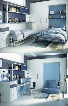 Decorate your room in a new style with murphy bed plans Decorate Your Room, Space Saving Furniture, Interior Design, Convertible Furniture, Small Spaces, Home, Interior, Murphy Bed Plans, Bedroom Design