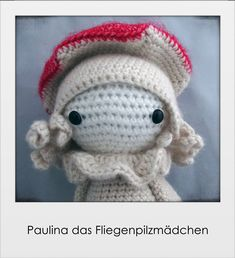 Paulina das Fliegenpilzmädchen von PIDesignStore auf Etsy Hello Kitty, Stuffed Mushrooms, Teddy Bear, Dolls, Etsy, Pattern, Handmade, Animals, Character
