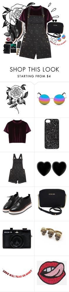 """""""love will tear us apart again"""" by starscounter394 ❤ liked on Polyvore featuring Forever 21, Old Navy, Matthew Williamson, Marc by Marc Jacobs, Dollydagger, WithChic, Michael Kors, Holga and Hipstapatch"""