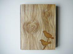 Hochzeit-Gästebuch oder Notizheft mit Vögeln von Aniri Art auf DaWanda.com
