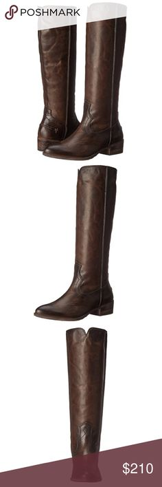 FRYE Riding Boots Beautiful Frye tall riding leather boots. Slate color. New with box. Frye Shoes Winter & Rain Boots