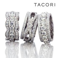 Tacori Rings, Tacori Engagement Rings, Vintage Engagement Rings, Unique Diamond Rings, Unique Rings, Beautiful Rings, Stylish Rings, Wide Diamond Wedding Bands, Wide Band Diamond Rings