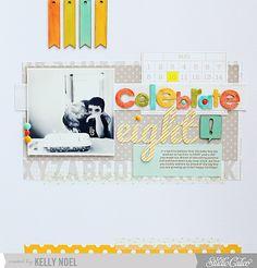 Celebrate eight #scrapbook