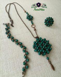 Beaded Jewelry, Beaded Necklace, Beaded Bracelets, Jewellery, Bead Crochet, Beading Tutorials, Shibori, Seed Beads, Turquoise Necklace
