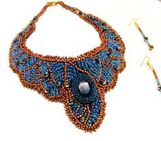 "Set ""Josephine"" Crochet Necklace, Shop My, Handmade, Shopping, Jewelry, Fashion, Embroidery, Crochet Collar, Hand Made"