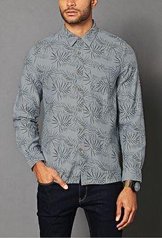 Botanical Classic Fit Shirt   21 MEN - 2000091886