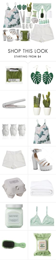 """green leaves"" by xxayshaxx ❤ liked on Polyvore featuring BCBGeneration, Maison Margiela, Frette, Laura Mercier, Monki, Less is More and Burt's Bees"