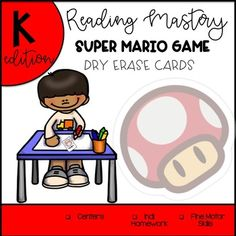 Have your students practice on fluency and handwriting at the SAME TIME! This game contains 145 words from the Reading Mastery Program Kinder Edition. Have your students enjoy a familiar character and watch their excitement when getting the word attack card.