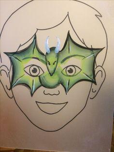 Kinderschminken Facepaint Drache