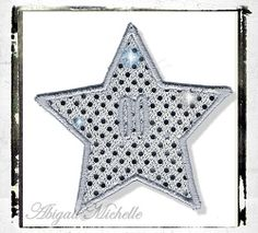 Star Banner Add On - 4 Sizes! | In the Hoop | Machine Embroidery Designs | SWAKembroidery.com Abigail Michelle