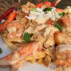 Ultimate Seafood Cheese Fries (Lump Crab, Lobster, Crawfish, Shrimp, and Alaskan King Crab