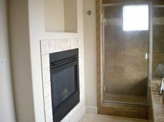fireplace in the master bath? I think yes!