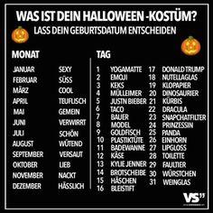 Was ist dein Halloween-Kostüm?